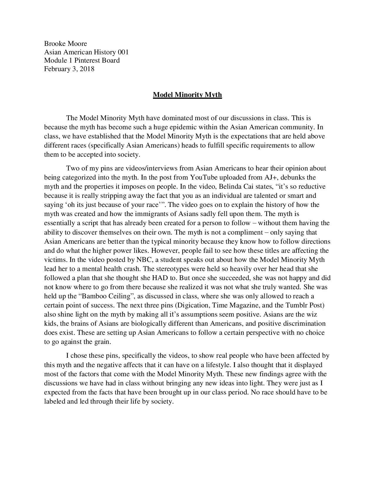 Asians model minority essay how to write degree essays