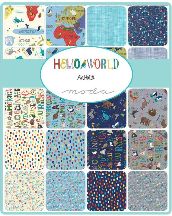 Hello world charm pack moda 5 inch precut fabric squares hello world charm pack moda 5 inch precut fabric squares childrens world map fabric juvenile animal fabric baby quilt fabric gumiabroncs Images
