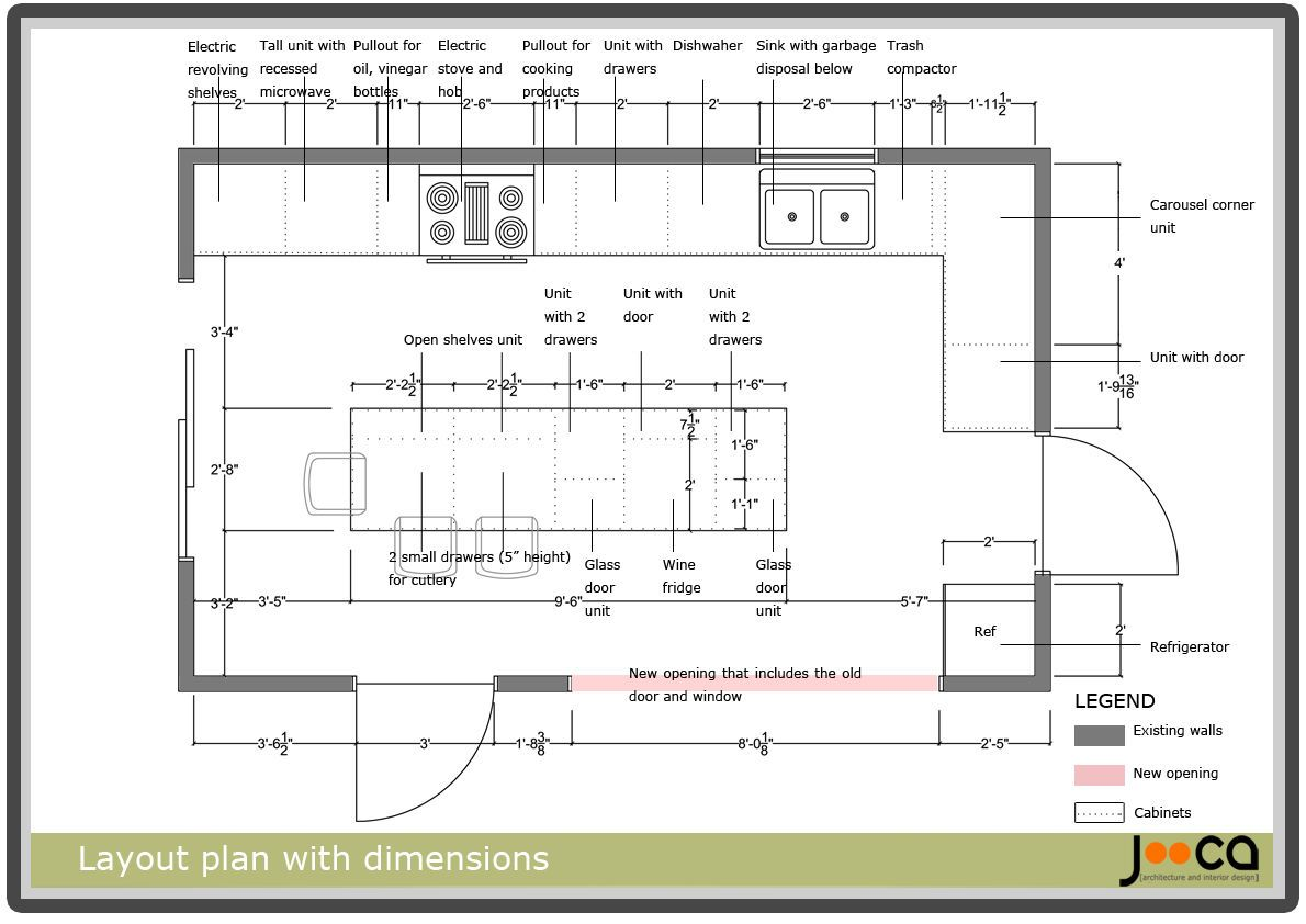 Kitchen Plan Layout With Dimensions   Novocom.top