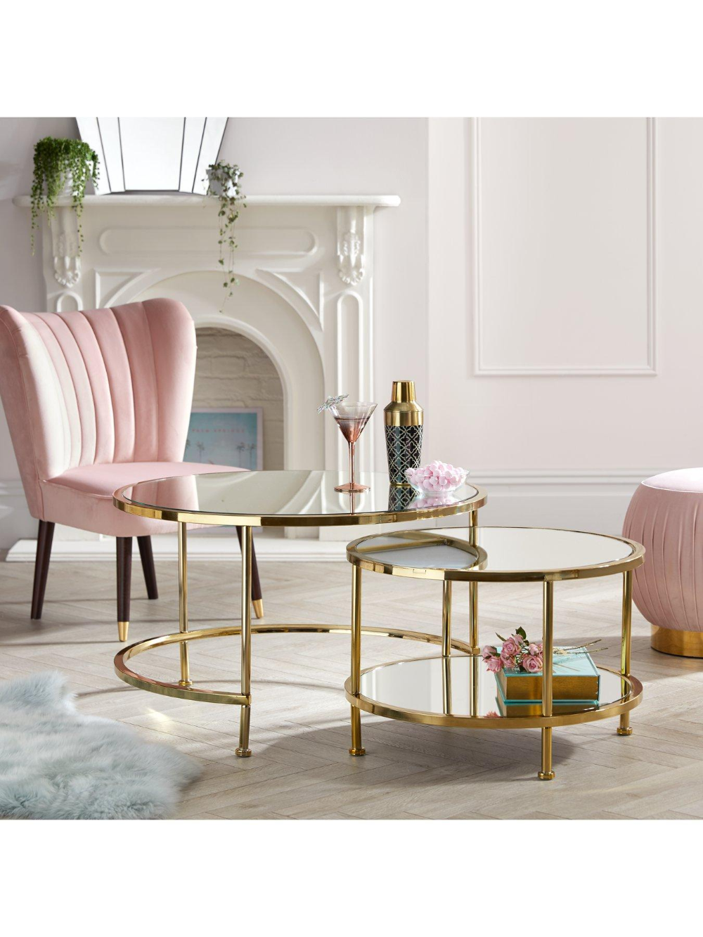 Aruba Nest Coffee Tables Coffee Table Gold Coffee Table Gold Living Room [ 1333 x 1000 Pixel ]