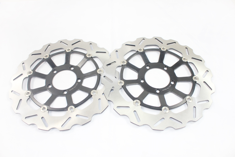 193.80$  Buy now - http://alib0o.worldwells.pw/go.php?t=32548519585 -  Motorcycle Front Brake Disc Rotors For 848 (Radial 2 pad Caliper)/ 848 Evo (Monobloc fronl calipers) 10-11 193.80$