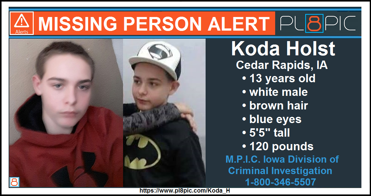 Police in Polk County, Iowa need your help finding 13 year