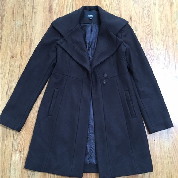 Mossimo dark brown winter coat I'm selling a gently used winter coat by Mossimo. The size is small, has two snap buttons. It's very flattering. Please ask me any questions you might have. Mossimo Supply Co Jackets & Coats Pea Coats