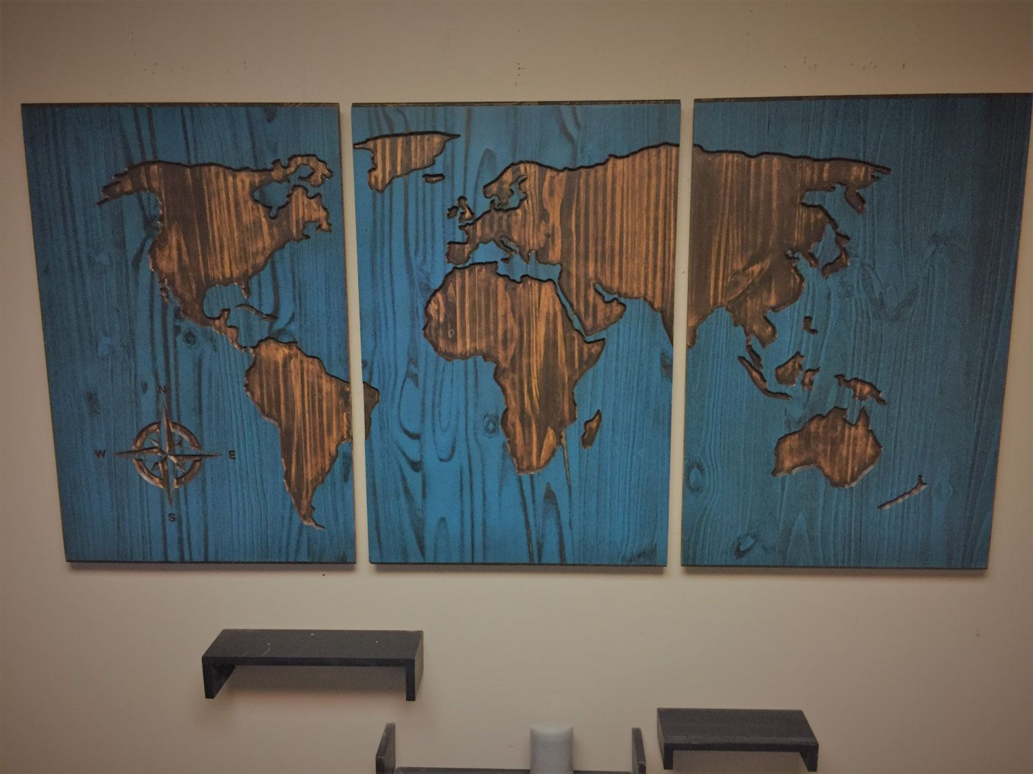 World Map Home Decor Carved World Map Wall Art World Map Home Decor World Map Decal