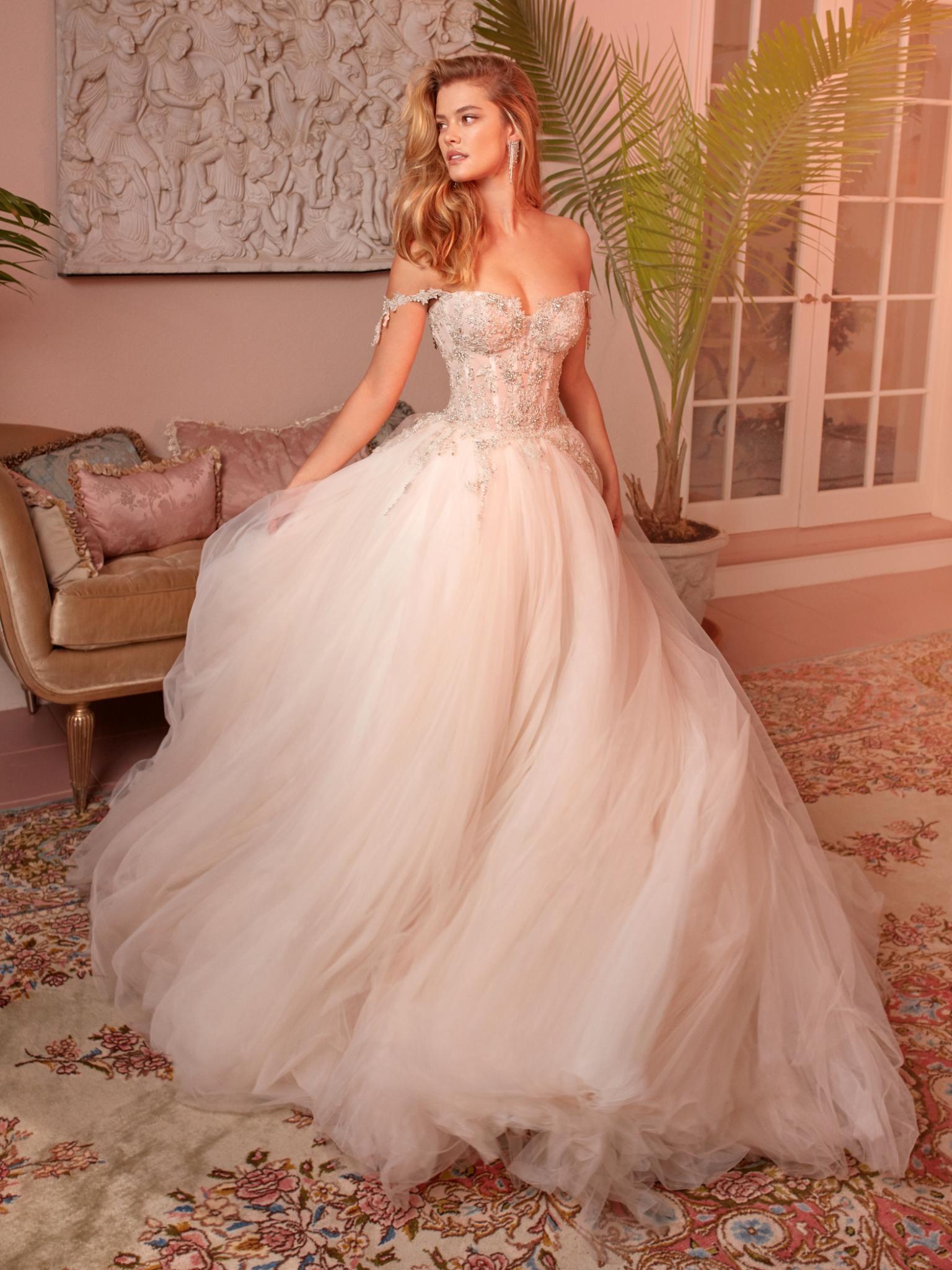12 Of The Most Stunning Wedding Dress Ballgowns Wedding Dress Trends Wedding Dresses Blush Wedding Dresses Corset [ 2048 x 1536 Pixel ]
