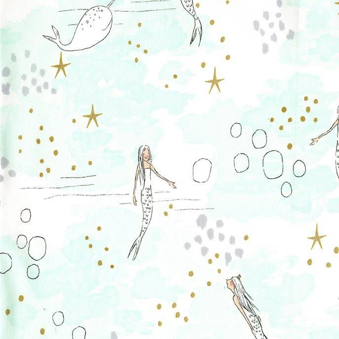 Magic Sarah Jane Michael Miller Fabric MERMAID MAGIC Swimming ...