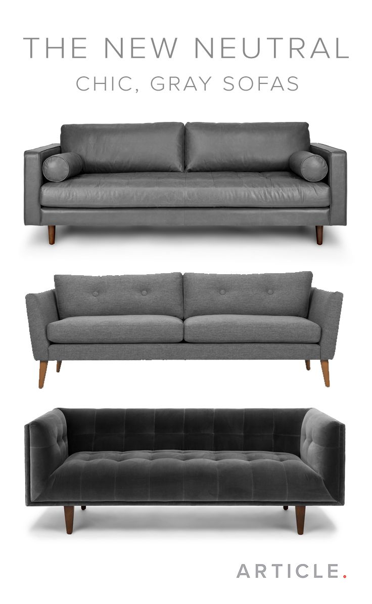 The Gray Sofa Is A Decor Must Have It Seamlessly Blends Well With