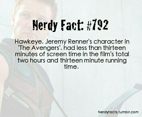 Poor Hawkeye! He got more screen time in age of ultron, but he is still a very under appreciated Avengers team member