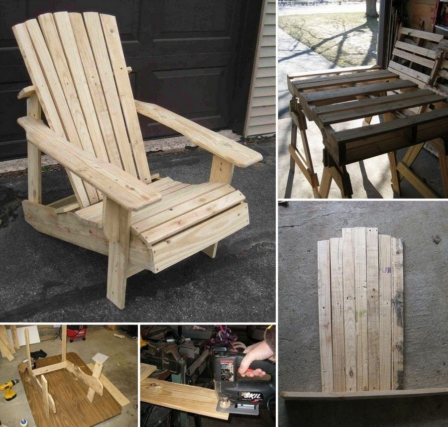 Here's a cheap and easy to make chair for your outdoor space! Learn how to make this pallet Adirondack chair by viewing the full album here http://theownerbuildernetwork.co/2wmm Would this help you relax in your outdoor space?