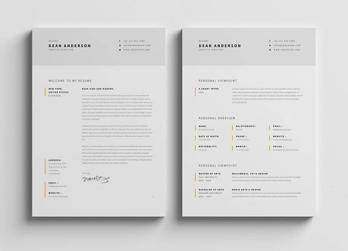 one of the best looking resumes don t you think this minimal