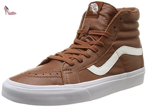 Vans U Sk8-Hi Reissue Leather, Sneakers Hautes Mixte Adulte, Noir (Premium Leather/Black), 35