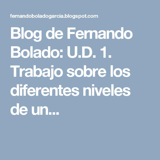 Blog de Fernando Bolado: U.D. 1. Trabajo sobre los diferentes niveles de un...