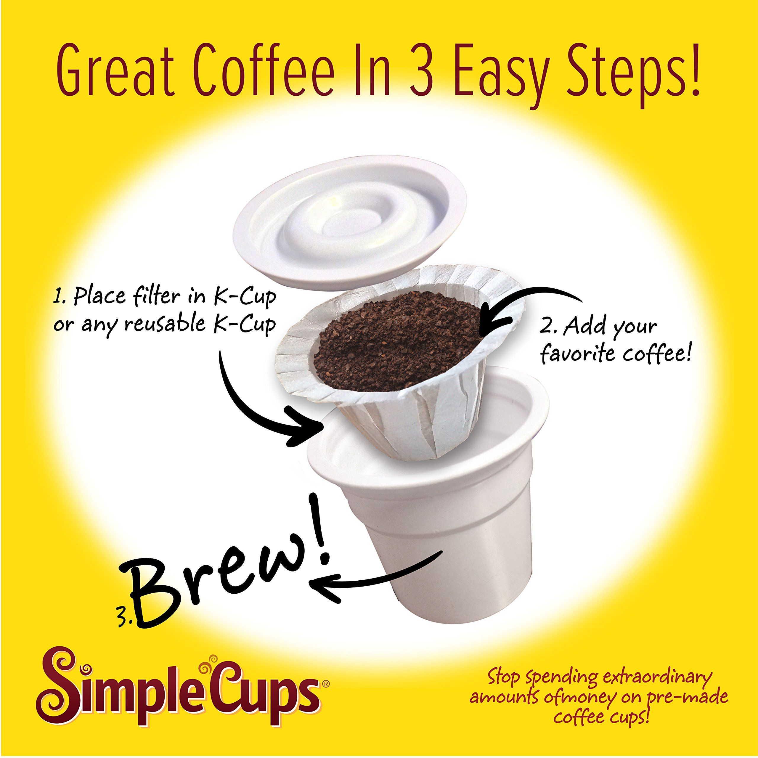 Disposable filters for use in keurig brewers simple cups