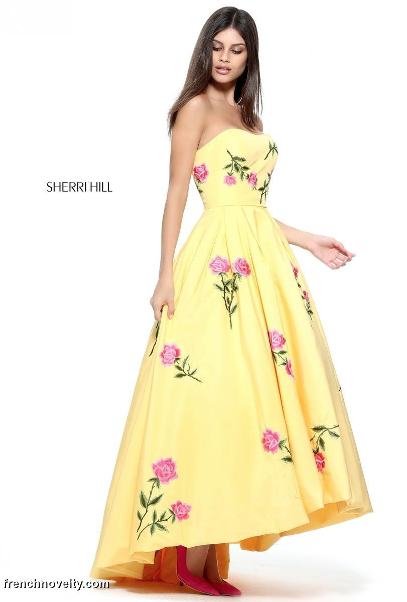 Sherri Hill 52723 Floral Print Prom Dress: French Novelty
