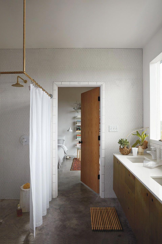 Dwr Honeycomb Shower Curtain Design Within Reach Teak Bathroom Bathroom Interior Minimalist Bathroom Design