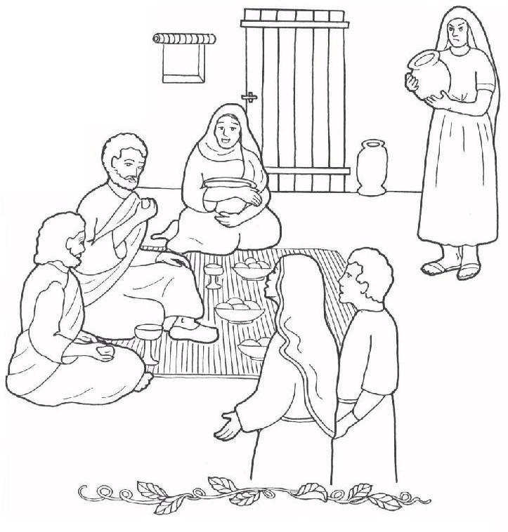 Image result for mary and martha house coloring sheet | Sunday ...