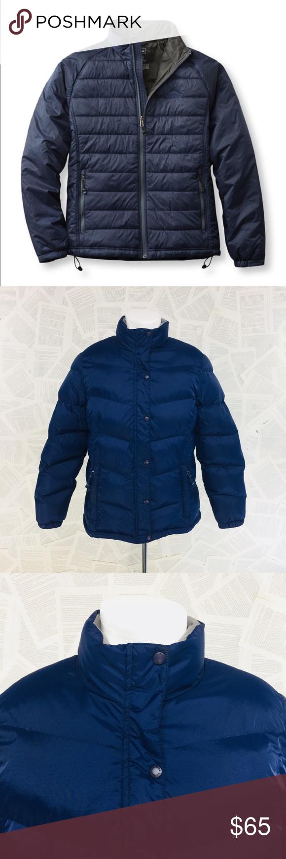 L L Bean Navy Blue Gray Puffer Jacket Coat Xl Reg Jackets Coats Jackets Clothes Design [ 1740 x 580 Pixel ]