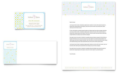 Infant Care Babysitting Business Card Letterhead Template Design Stocklayouts Business Card Template Word Letterhead Template Flyer Template