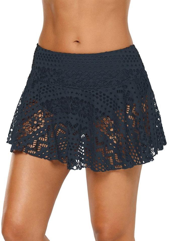 54e1cfd546 Navy Lace Crochet Swim Skirt Bottom in 2019   2020   Swim skirt ...