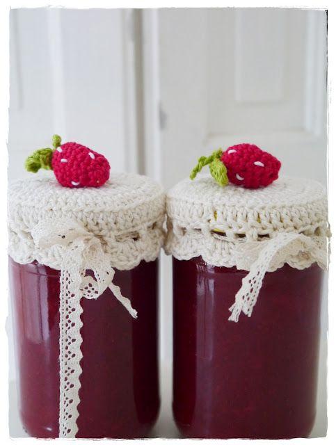 Crochet Häkel Marmeladen Deckel Handmade Handgemachtes