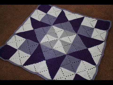 Left Handed Crochet Granny Square Tutorial And Baby Blanket Pattern