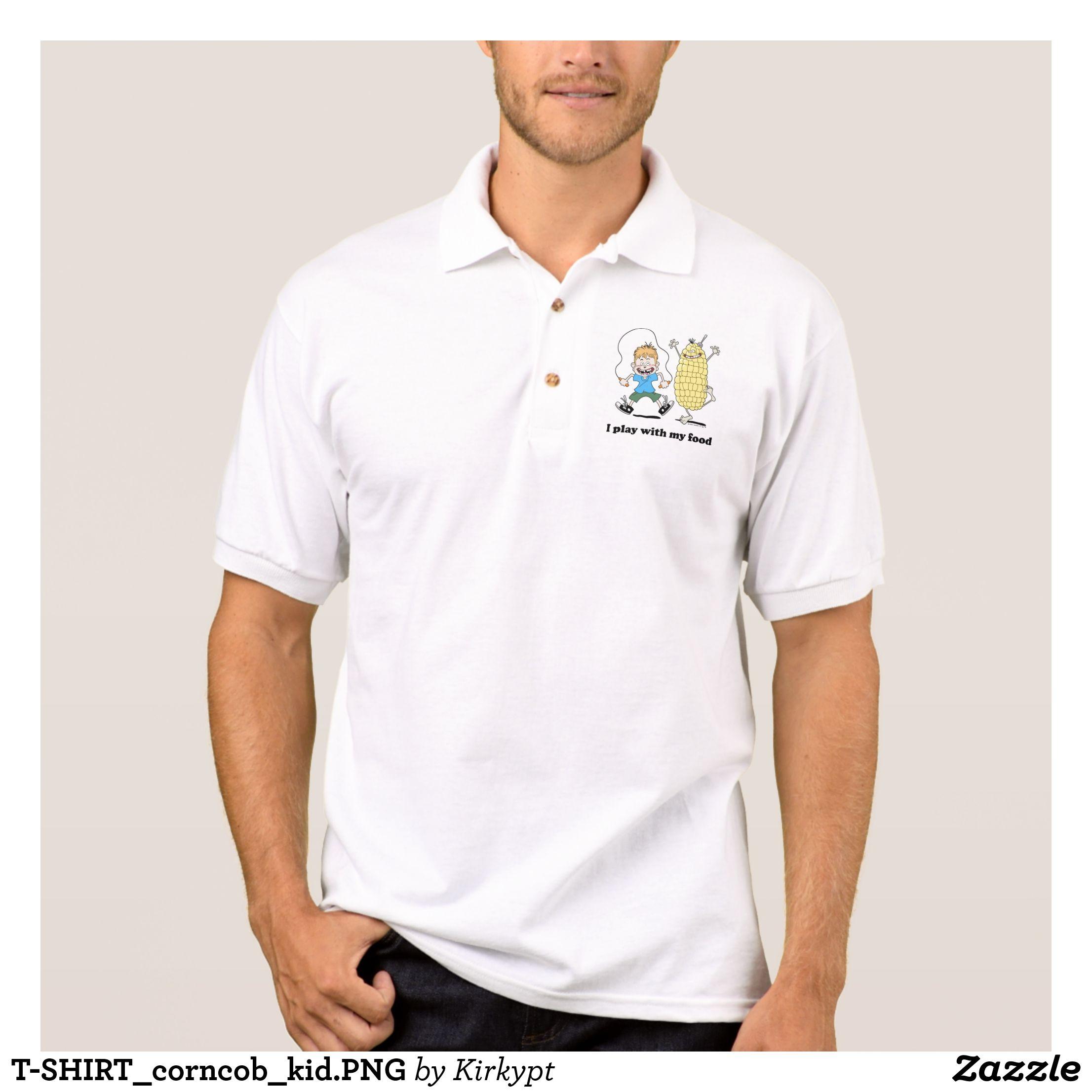 T Shirt Corncob Kid Png Polo Shirt Zazzle Com Mens Polo Shirts Polo Shirt White Polo Shirt