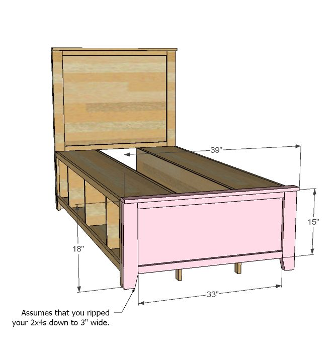 Best Ana White Build A Hailey Storage Bed Twin Free And 400 x 300