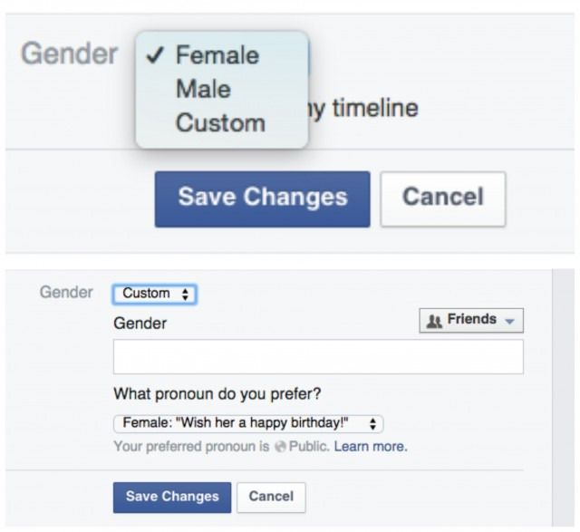 Facebook S New Gender Options Let You Choose Anything You Want Facebook News Gender Custom