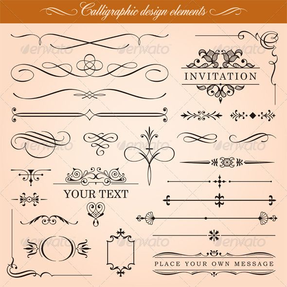 Calligraphic Design Elements Design elements, Retro vector and - best of periodic table of elements vector