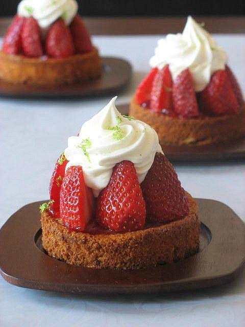 Strawberry Lime Tartlets by tartelette, via Flickr