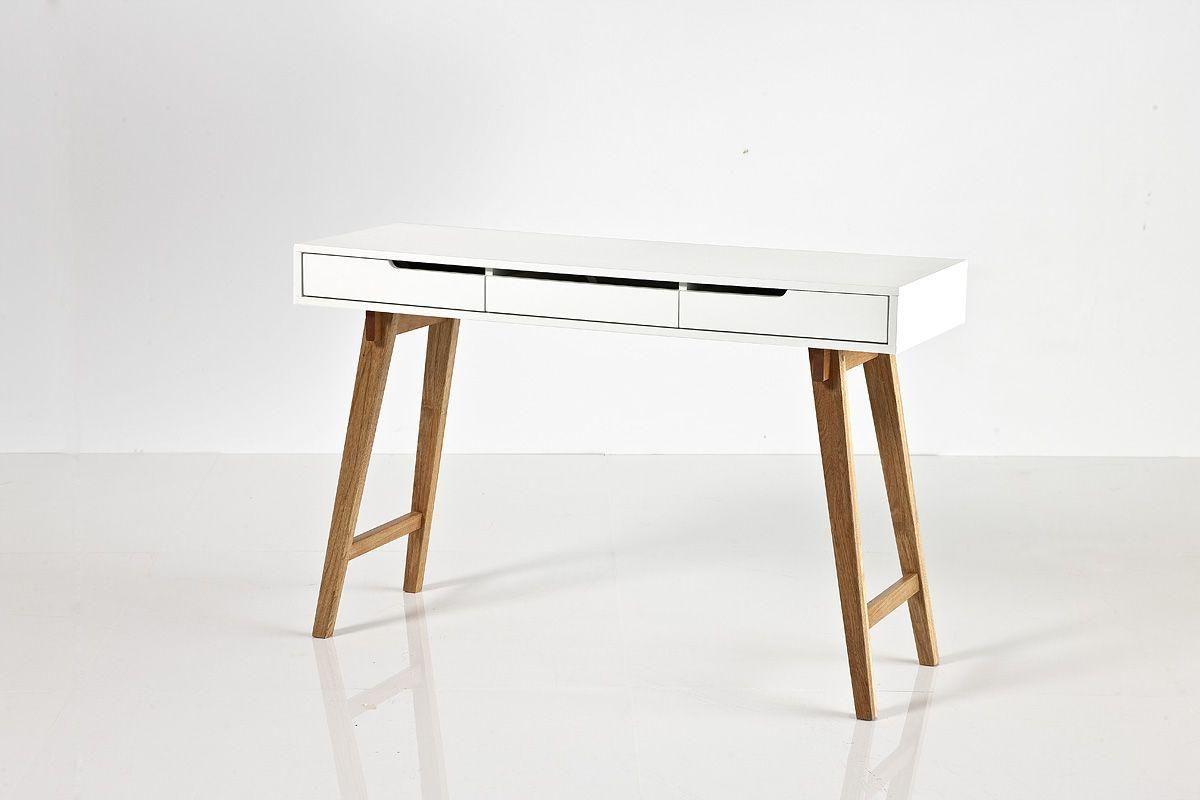 Eckschreibtisch weiß matt  schreibtisch-120-x-40-cm-weiss-matt-lackiert--buche-massiv-woody ...