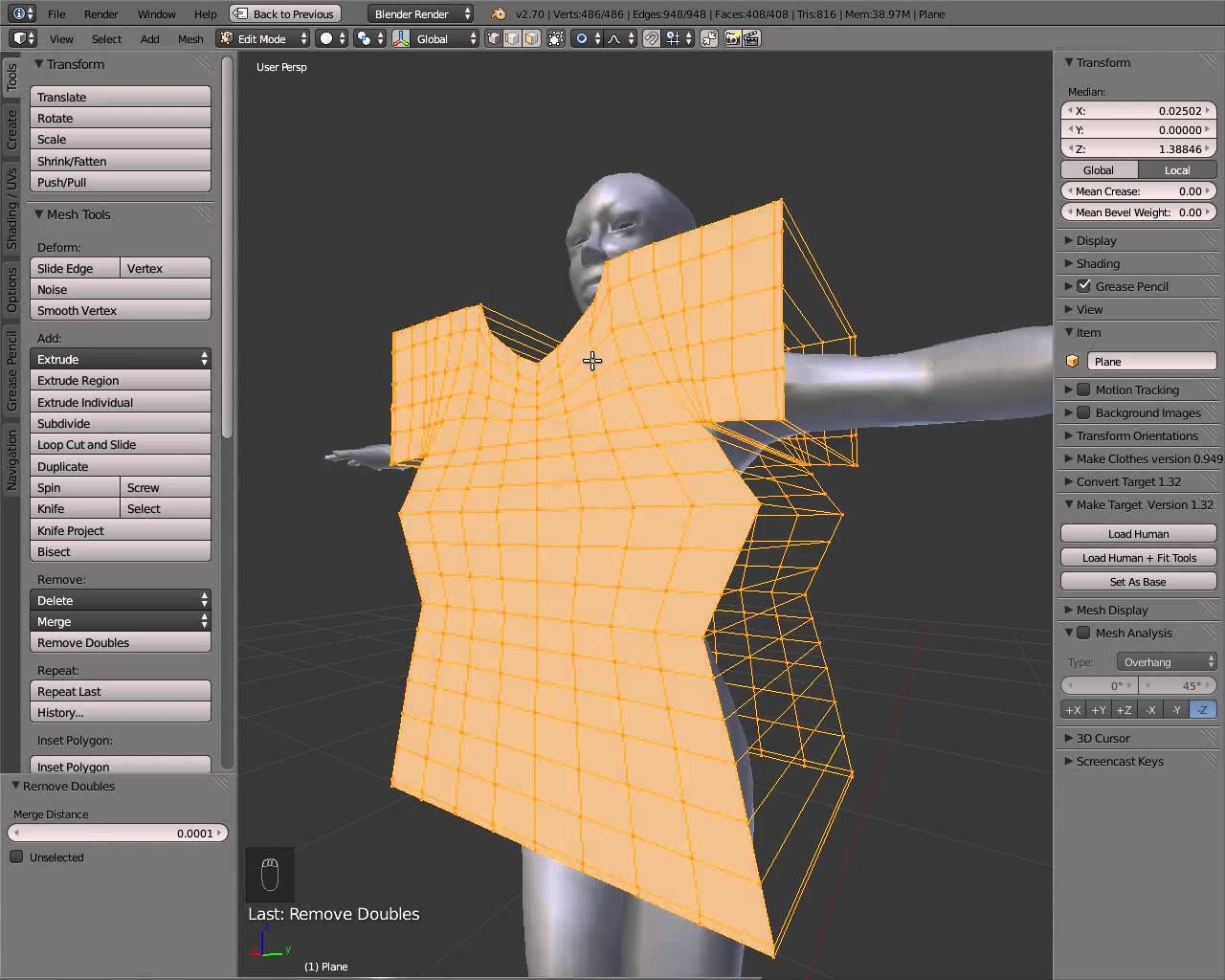 In this new series we'll learn how to do clothes in blender. First we will do a simple t-shirt in 2D and adapt it to the avatar using Blender's physics simul...