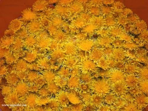 Bevanda buona, dissetante e depurativa con i fiori di tarassaco, infusi in acqua e decotti con bucce di agrumi e zucchero di canna grezzo.