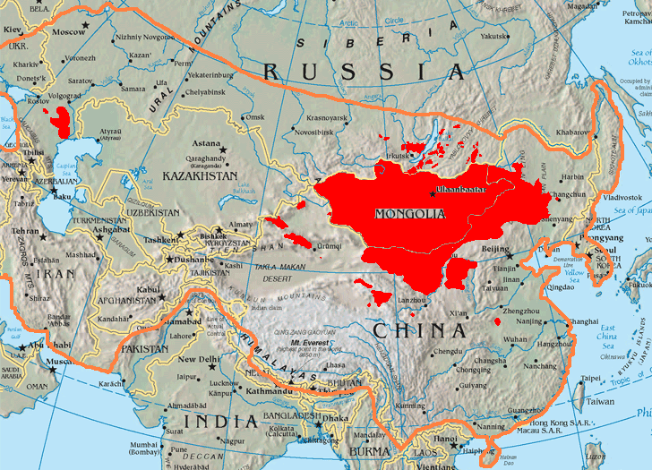 Mongolia, the Mongols and the past Mongol Empire
