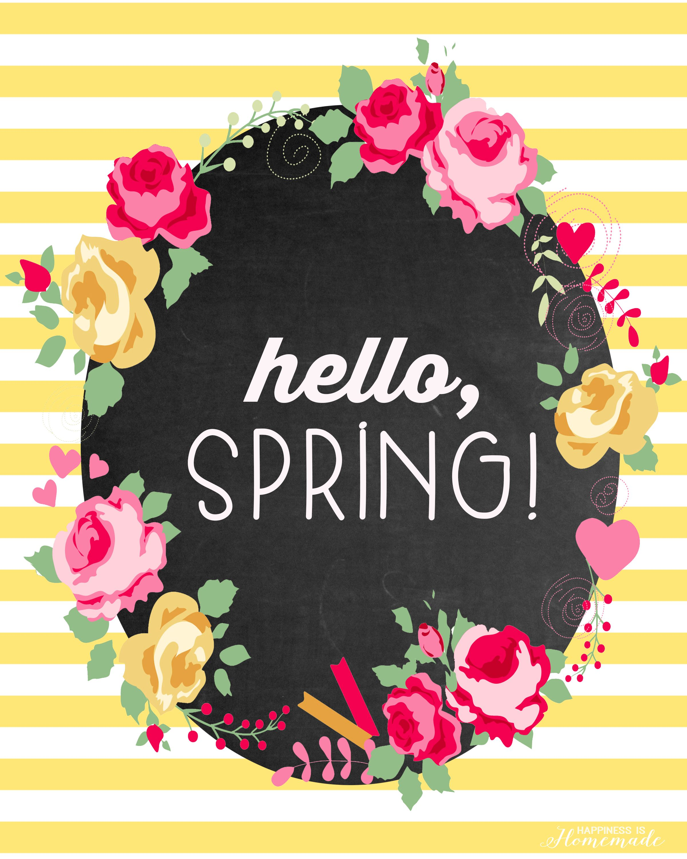 hello spring free printable happy spring happy and spring
