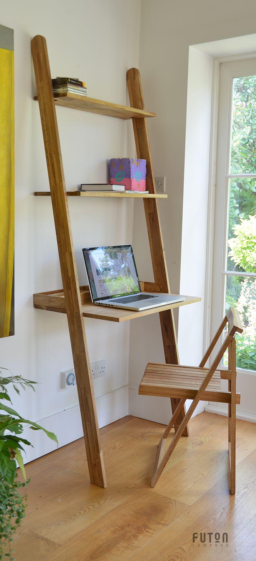 Leaning Oak Lean To Desk Futon