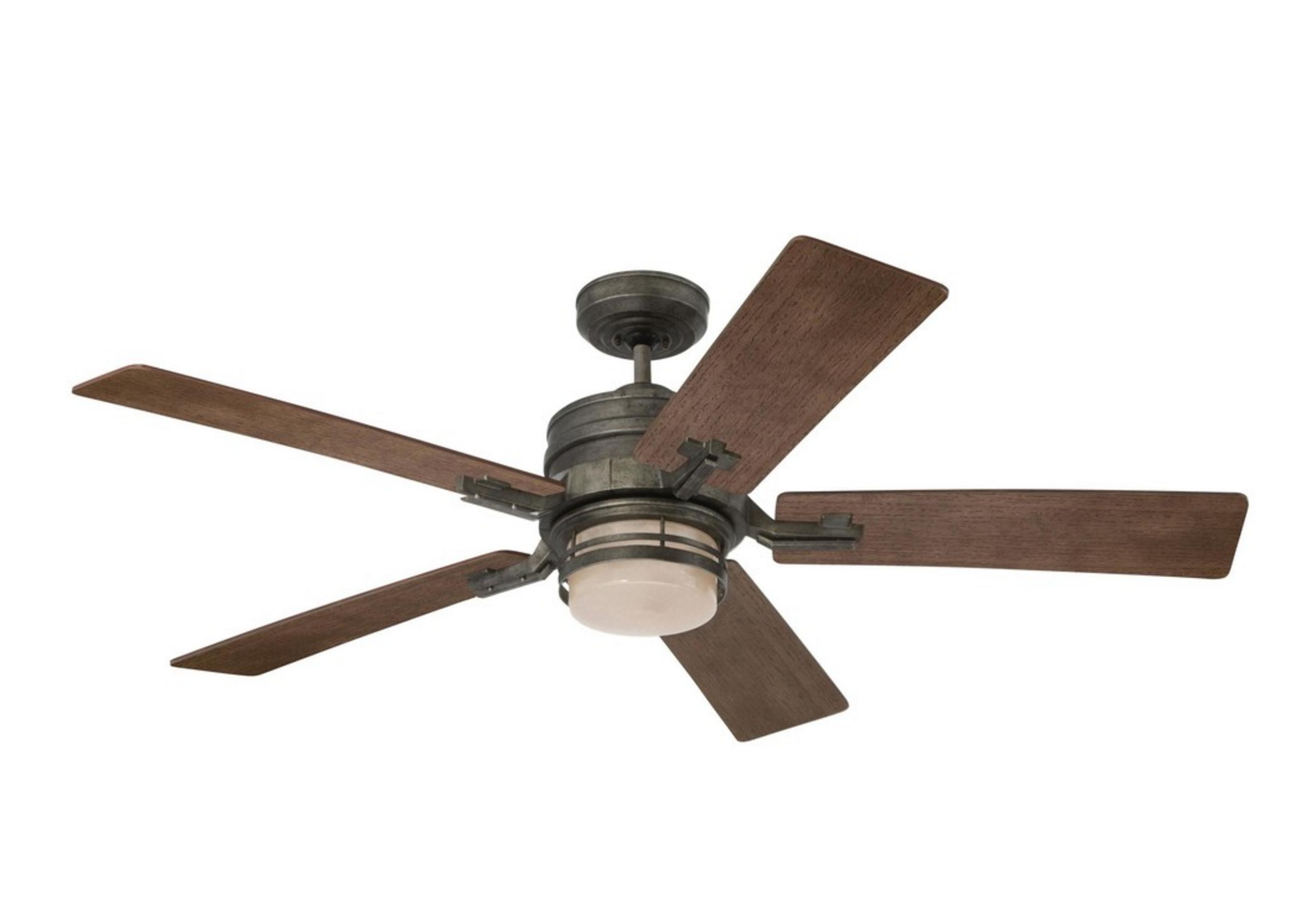 Emerson amhurst vintage steel 54 ceiling fan with light control