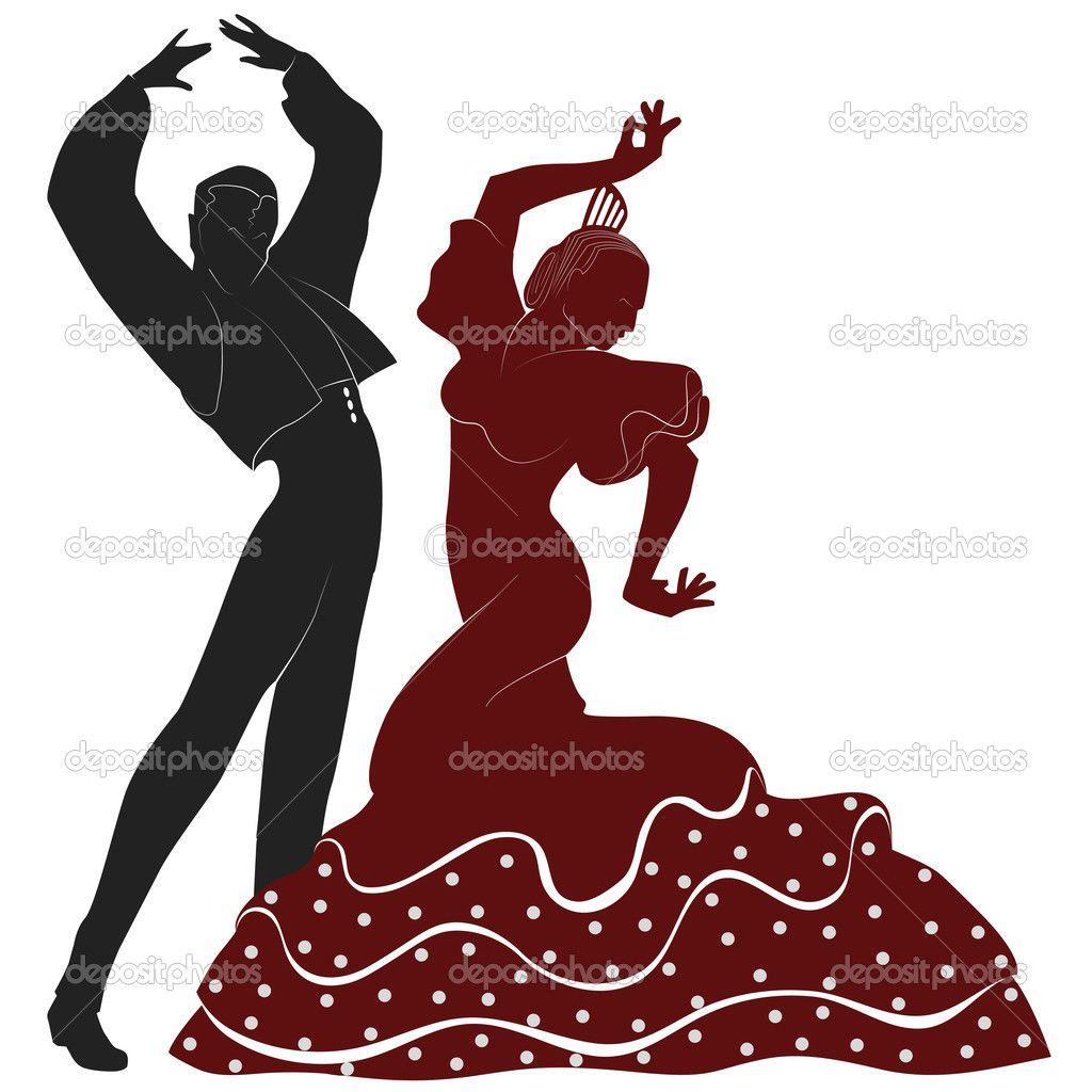 Depositphotos 33255793 Flamenco Dancers Jpg 1024 1024 Bailarín Español Silueta De Baile Silueta De Bailarina