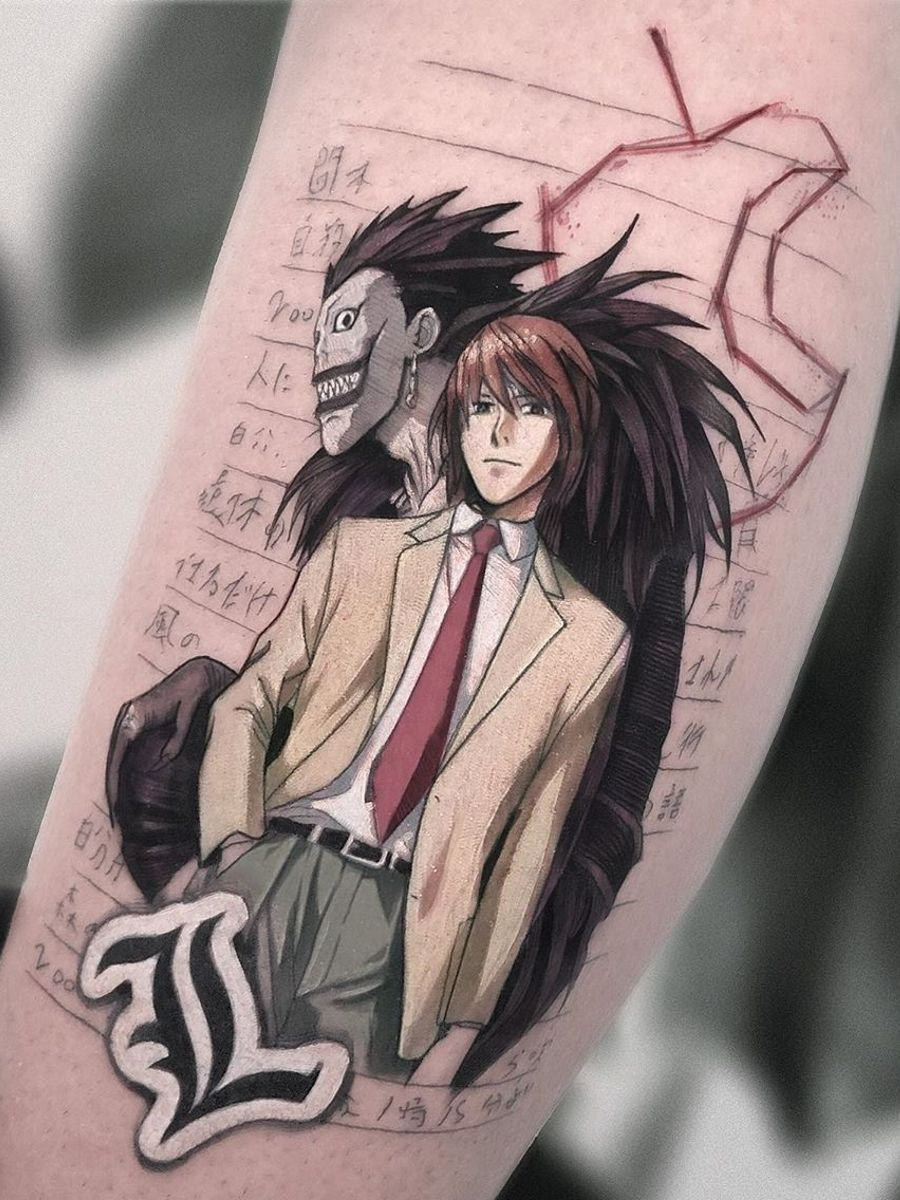 Ramón on Twitter in 2020 Anime tattoos, Death note manga