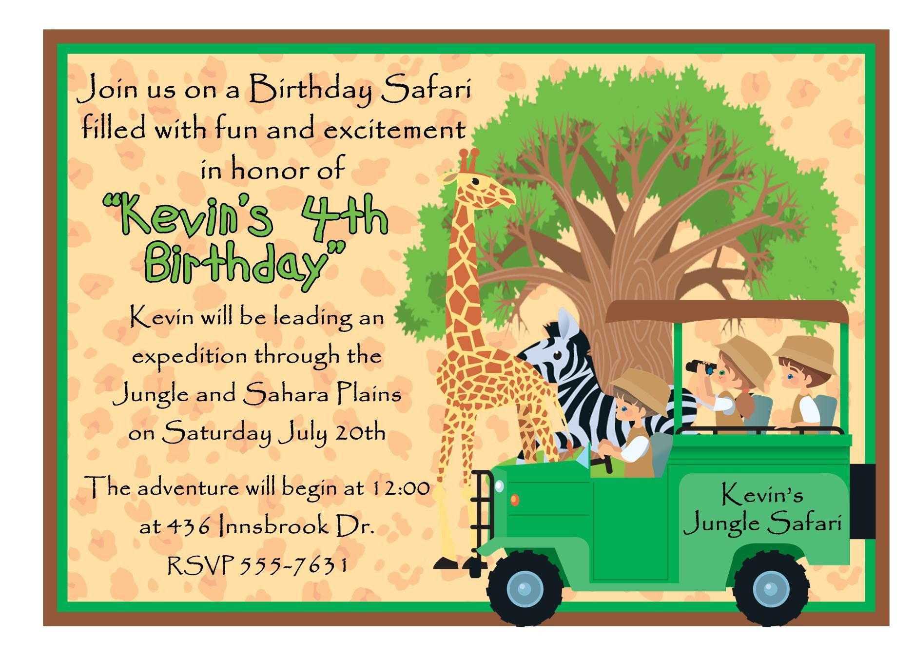 awesome How to Make Safari Birthday Invitations Free Templates Check