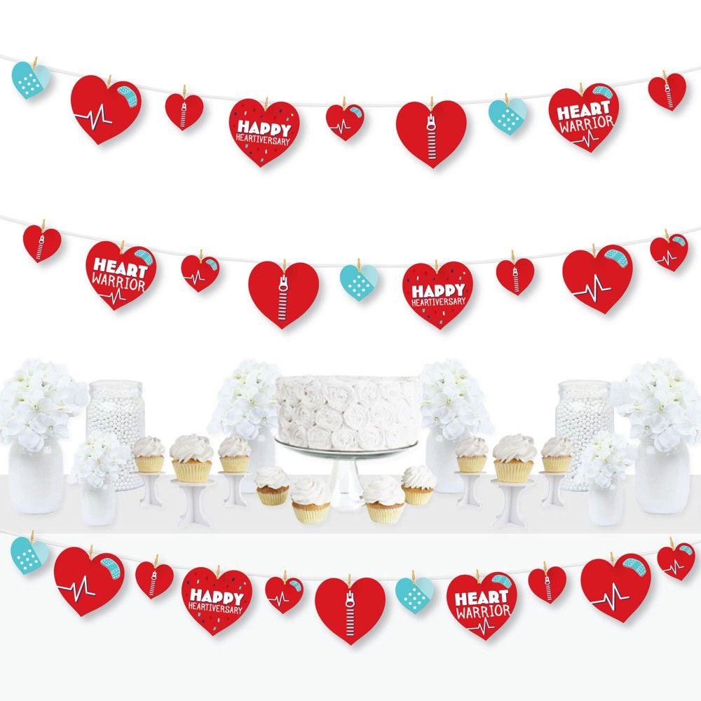 Heartiversary Banner Happy Heartiversary Party Decor Heartiversary Gift Heartiversary Heartiversary Photo Backdrop Heartiversary Party