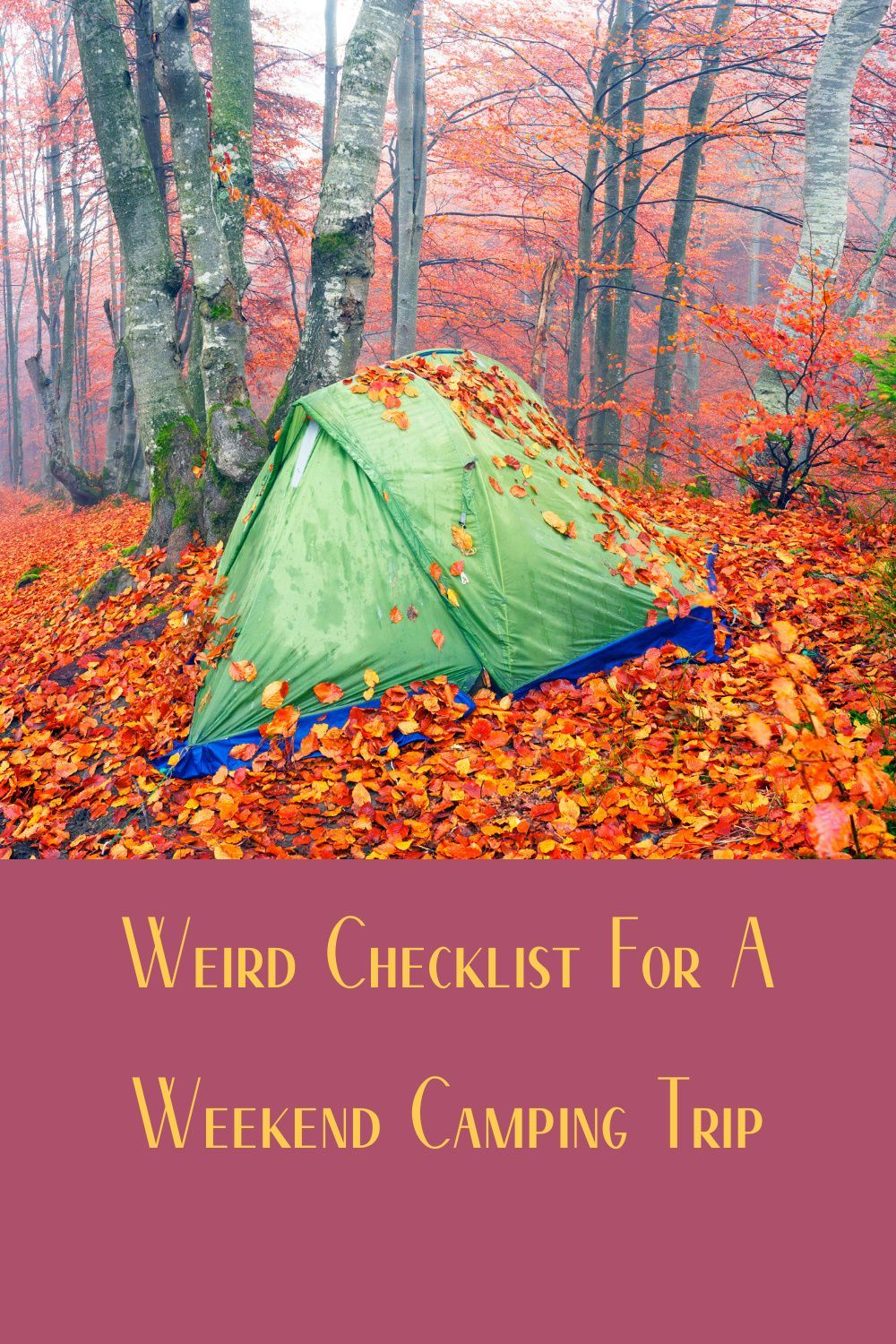 5 Point Checklist For A 2 Night Camping Trip Weekend Camping Trip Camping Trips Trip
