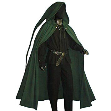Medieval Hooded Cape - Great LARP Accessory - Green  49cb7b6f1