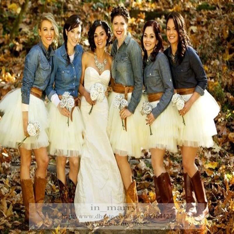 2016 Country Wedding Bridesmaids Tutu Tulle Skirt Puffy ...
