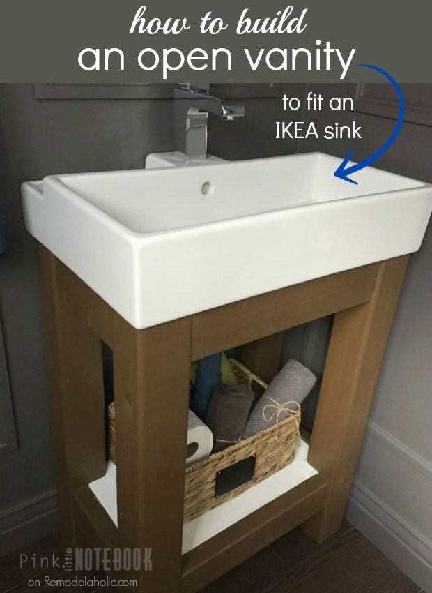 Easy Open Vanity How To And Building Instructions Fits An Ikea