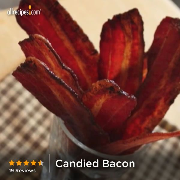 """Candied Bacon   """"It was awesome to see people's eyes get wide when they tried it and say, """"Oh my god!"""" and """"Holy **, that's good!"""" I would definitely make this again-- it was a crowd pleaser."""""""