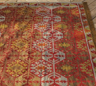 High Quality Pottery Barn Tauna Synthetic Kilim Rug