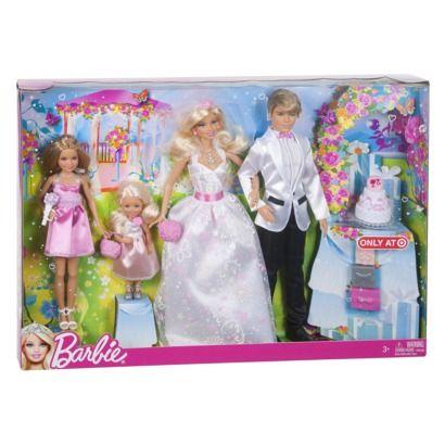 Barbie Fairytale Wedding Party Doll Giftset