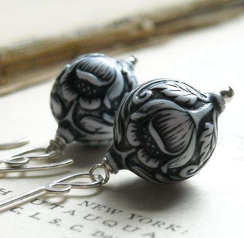 Heathcliff Earrings   by Leaves of Glass