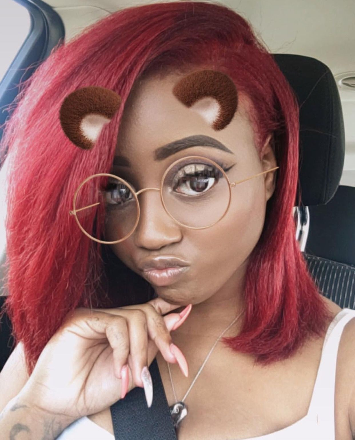 Pin By Sendtaythebag On Red Dyed Red Hair Natural Hair